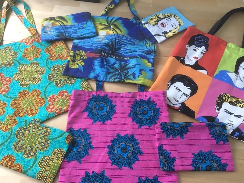 Serie de pochettes et tote-bag