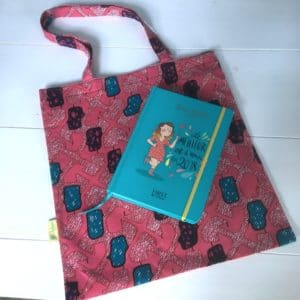 Tote-bag wax rose et turquoise