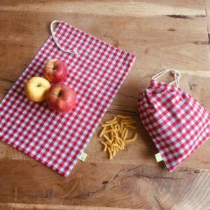 sacs à vrac carreaux rouges grand et petit format