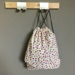 sac à dos pochon étoiles