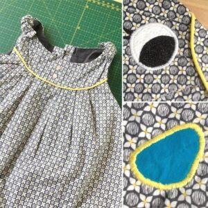 Robe d'enfant, détails d'une création