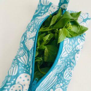 Trousse de conservation herbes aromatiques bleue