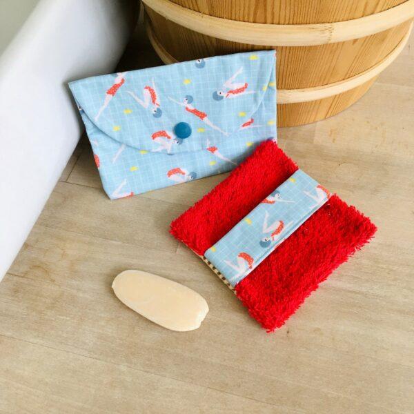 sauve savon baigneuses et pochette à savon baigneuses