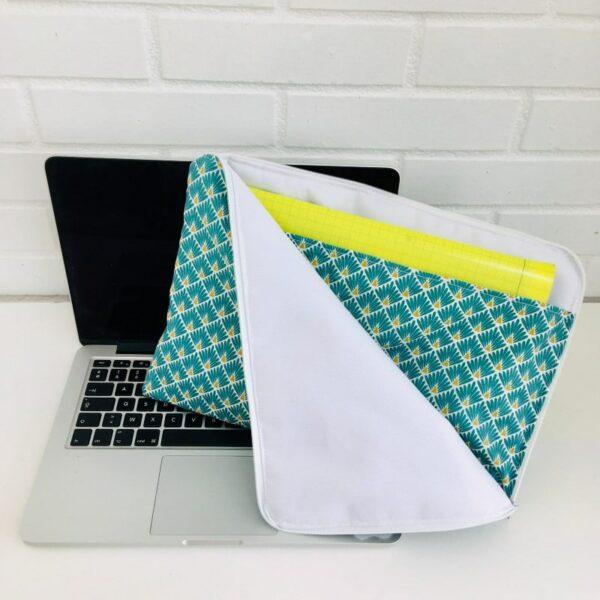 Pochette ordinateur fermeture zippée avec poche rangement de document