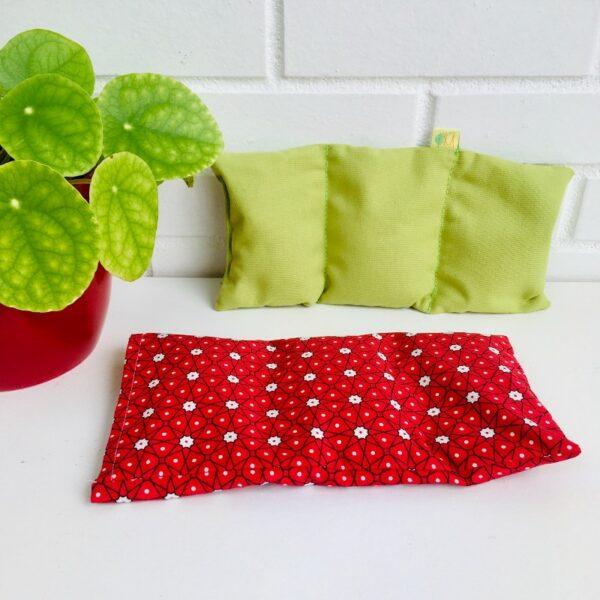 bouillotte sèche graines de lin rouge